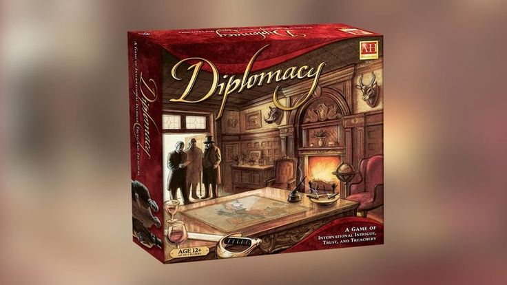 """Diplomacy: A Game of International Intrigue, Trust, and Treachery It's like """"Risk"""" but with more talking (and less board-flipping)."""
