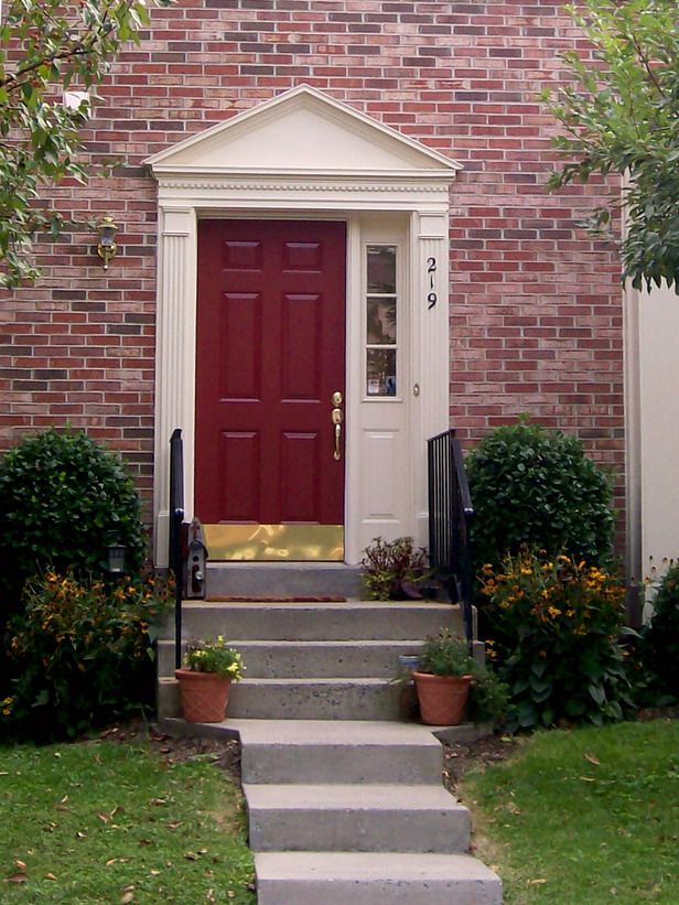 front door paint colors | Photo 2 of 5 Painting your front door a high-gloss red can add eye ...