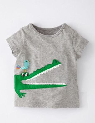 I've spotted this @BodenClothing Big Animal Appliqué T-shirt Grey Marl/Crocodile