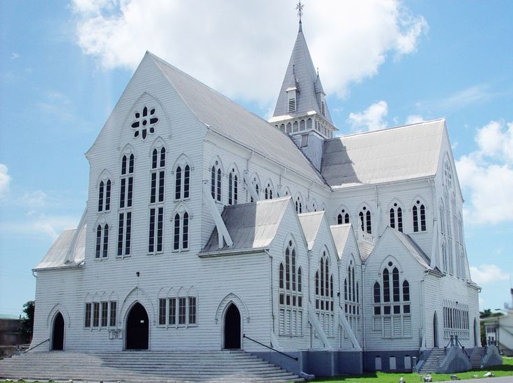 St. George's Anglican Cathedral in Georgetown, Guyana, at 143 feet tall, is one of the tallest timber-built buildings in the world. It was dedicated in 1894 and is a National Monument in Guyana.
