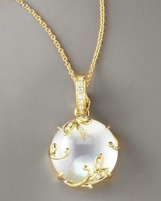 Frederic Sage - Mother of Pearl & Diamond Pendant