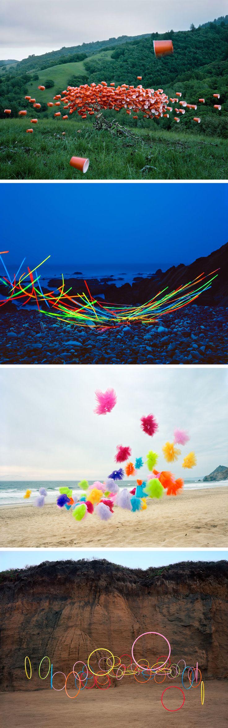 """Artiste : Thomas Jackson, """"Emergent Behavior"""" Série J'aime beaucoup l'idée d'un art libre, en plein air, et coloré."""