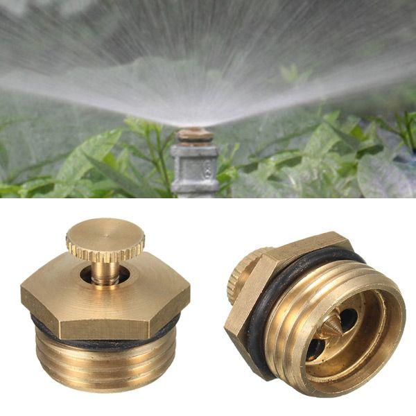 5pcs 1 2 Inch Brass Atomization Spray Nozzle Garden Greenhouse Cooling Misting Sprinkler Head Sprinkler Sprinkler Heads Greenhouse