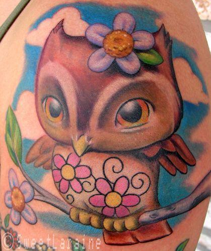 Cute Owl!Hair Ideas, Tattoo Ideas, Cartoons Owls Tattoo, Girls Owls, Neat Things, Baby Owls, Britt Stuff, New Tattoo, Art En