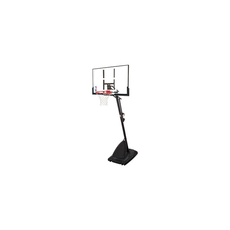 Spalding NBA 50 Polycarbonate Portable Basketball Hoop, Black