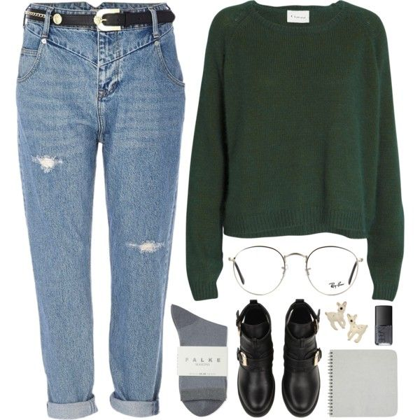 Roisin by sulk-y on Polyvore featuring Ganni, River Island, Falke, Ray-Ban, NARS Cosmetics, women's clothing, women's fashion, women, female and woman