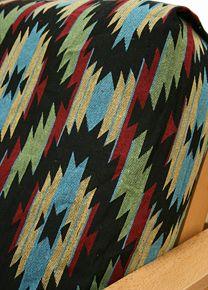 Little Joe fabric is truly stunning tapestry pattern in bright multi color scheme. This great cover embodies the rugged ambiance of the great Southwest. This eye catching cover will add elegance to any room. Made of durable, upholstery grade tapestry.