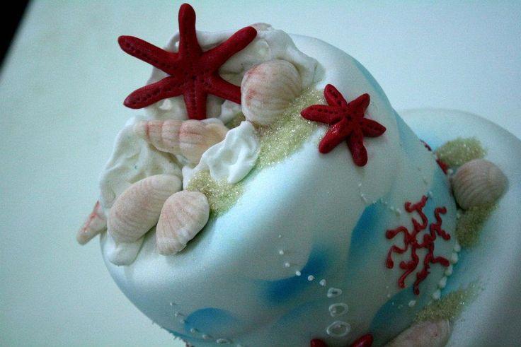 le stelle marine torta della pasticceria La Mimosa di http://www.simocakedesigner.it