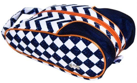 Love Golf Shoe Bags? Here's our Coastal Tile Glove It Ladies Golf Shoe Bag! Find more golf accessories at #lorisgolfshoppe