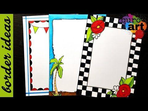 Check Border Designs On Paper Border Designs Project Work