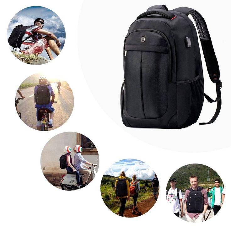 Laptop Backpack Travel School Business Bag USB Port Anti Theft College Notebook #LaptopBackpackTravel