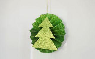 Décoration de Noël en papier de scrapbooking