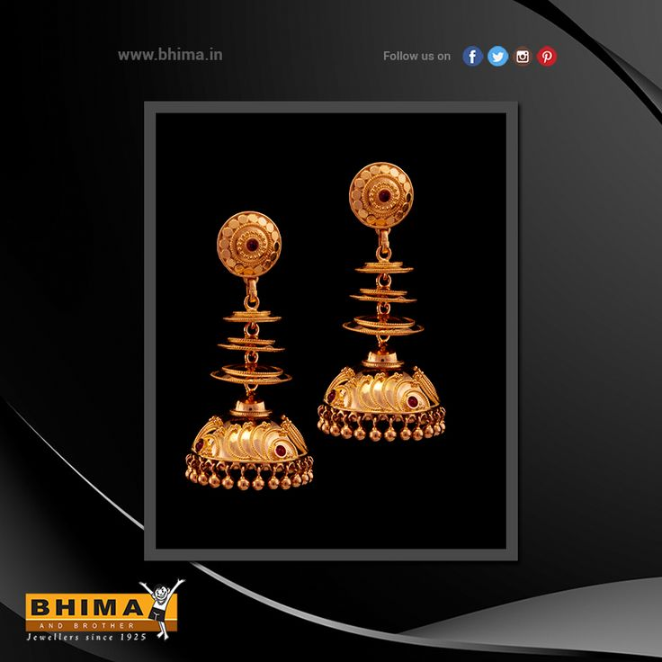Elegant Jumkas !  #jewelry #jewellery #gold #accessories #fashion #luxurystyle #style #bhima #ornaments #goldornaments