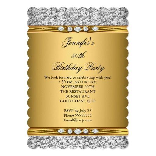 414 best Elegant Birthday Party Invitations images – 65th Birthday Invitations