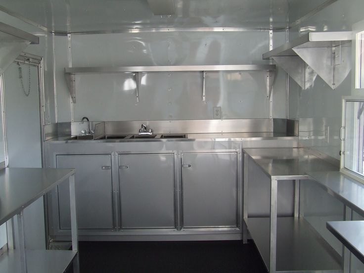 Food truck interior sink