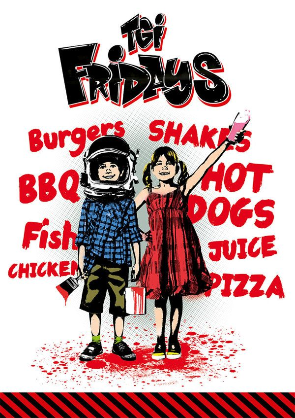 TGI Fridays Kids Menu Cover on Behance