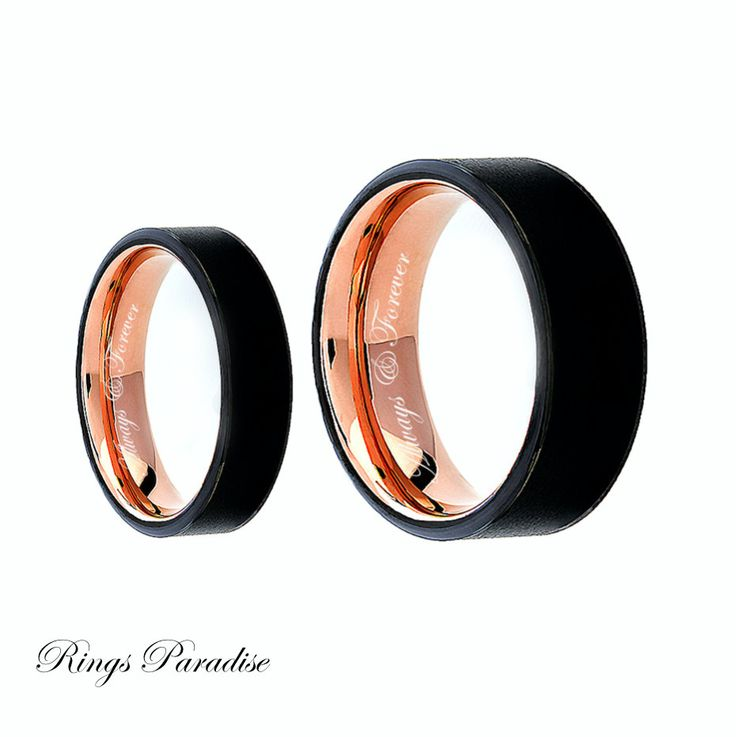 Engagement Ring, Tungsten Carbide Ring, Couples Promise Ring, Engraved Tungsten…