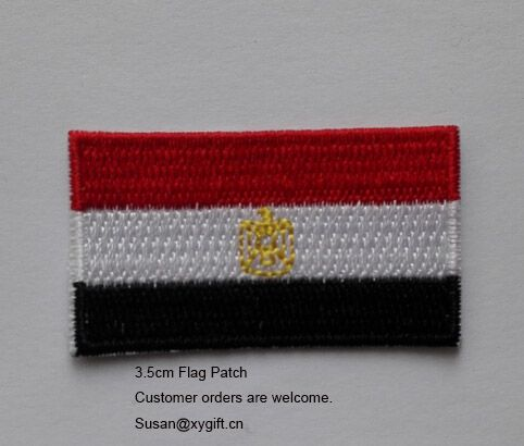 Free Shipping Yemen Flag Patch 3.5cm Iron on Embroidered Patch
