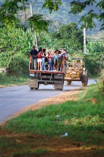 A local transport in Pinar del Rio provence, Vinales, Cuba Copyright: Declan Alcock