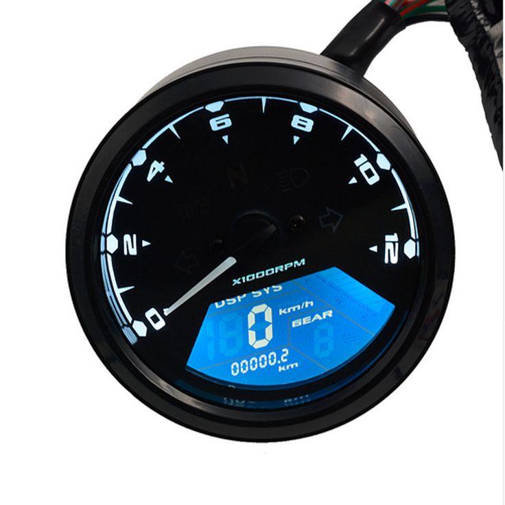 Wupp  12000 Rmp Kmh  Mph Universal Lcd Digital Odometer
