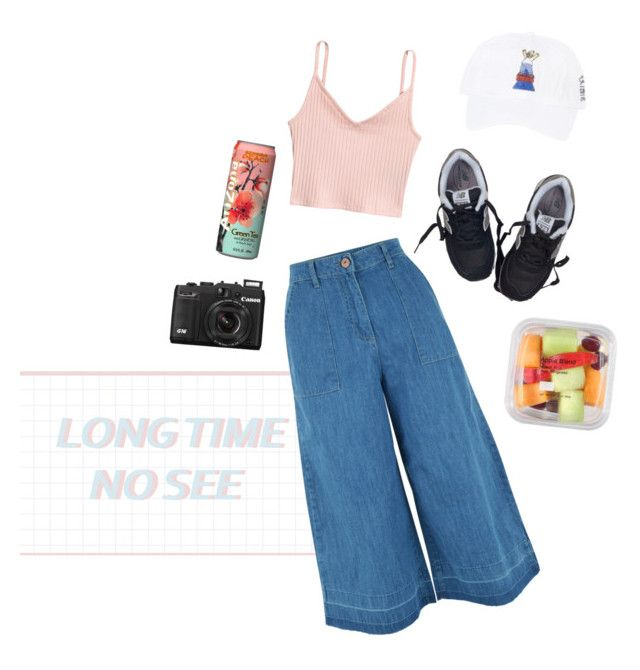 """long time, no see"" by uukiyou ❤ liked on Polyvore featuring New Look, H&M, New Balance, cute, tumblr, ootd and aesthetic"