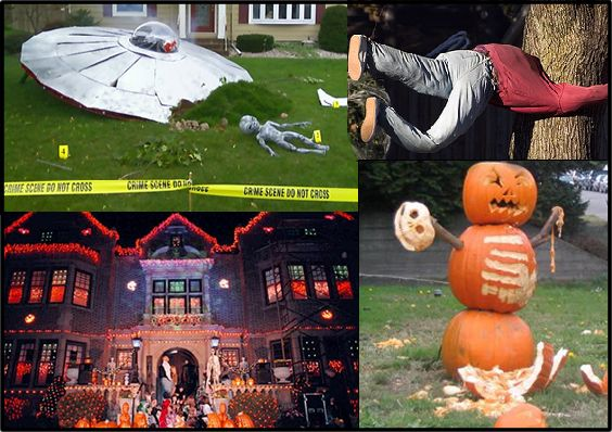 Halloween ideas must do the spaceship crash fall for Awesome halloween decoration ideas