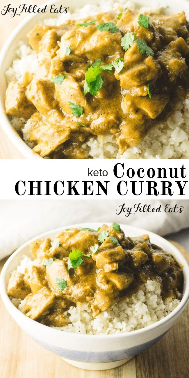 Coconut Chicken Curry – Low Carb, Keto, Gluten-Free, Grain-Free, THM S – Curry p…