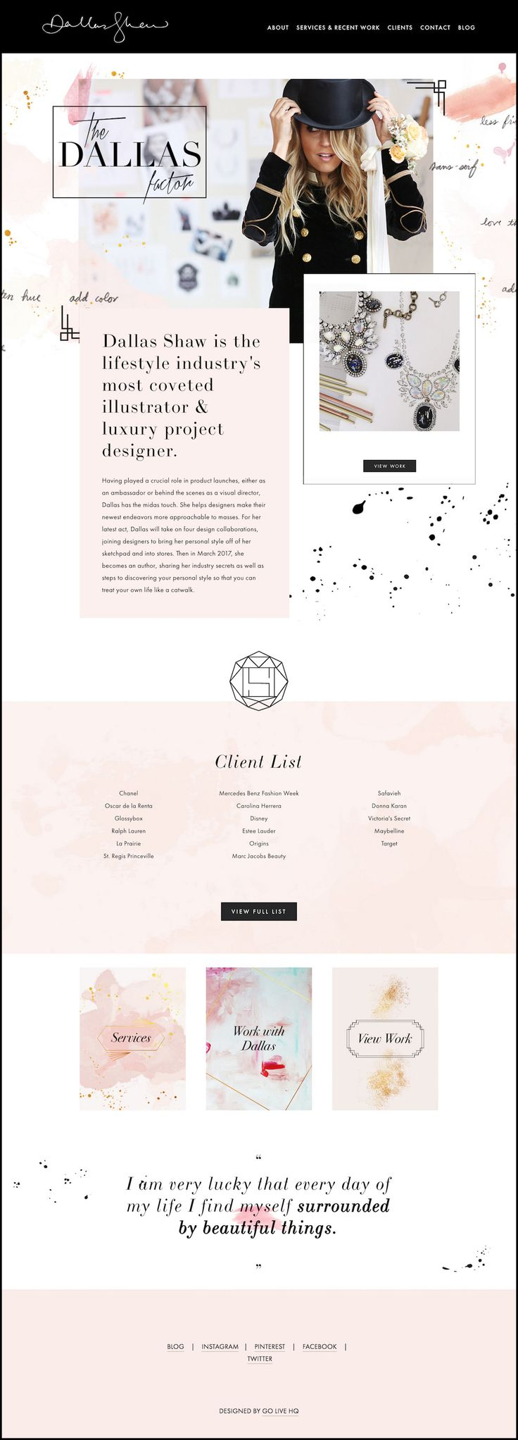 10 Squarespace example websites for inspiration • Feminine Edition — The Paige Studio • Squarespace Website Designer