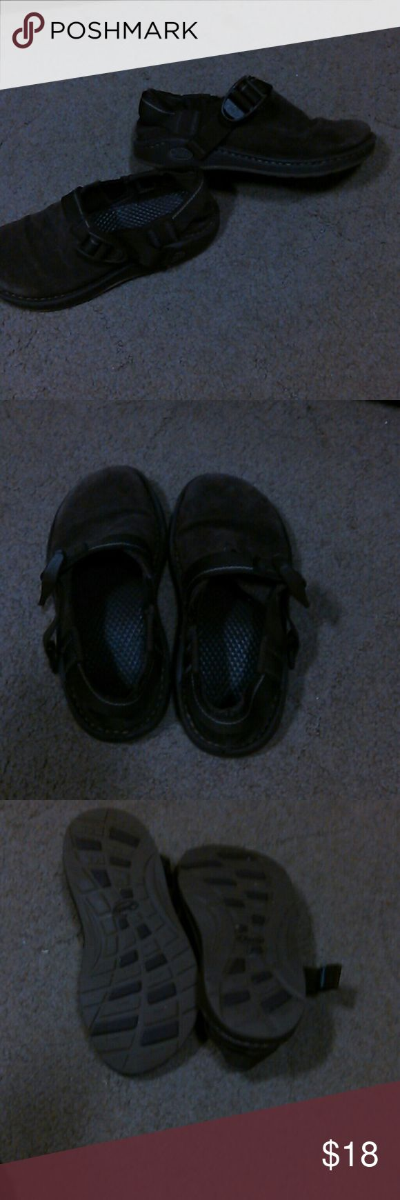 Chacos kids brown suede These are shoes not the sandles  these are brown suede great condition Chacos Shoes