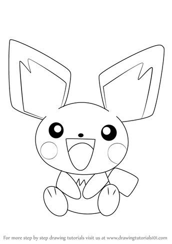 Learn How to Draw Pichu from Pokemon