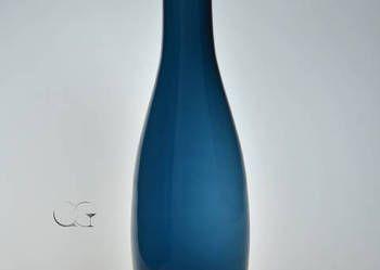 HIT Wazon szklany błękit nocy wysoki
