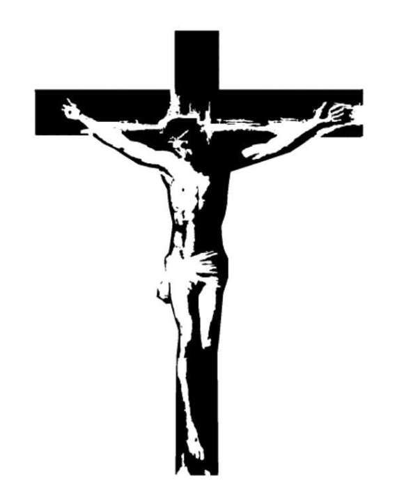 Crucifix Jesus on the Cross Stamp Catholic by ... Jesus Christ On The Cross Drawings For Tattoos