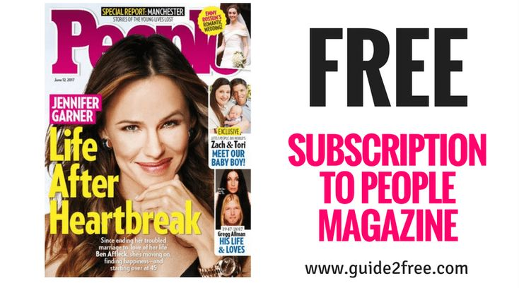 It's back again!Get aFREE Subscription to People Magazine!! Hurry, no bills and no credit card needed!!Stay in the know with one of the most widely recognized publications in the world. People magazine has been bringing the best of celebrity and popular culture news within reach since 1974.