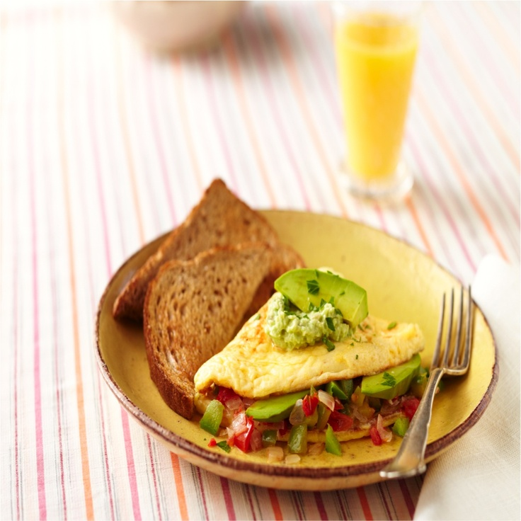 Freshly Sliced Avocados And Philadelphia Original Cooking Creme Come Together Beautifully In This Avocado Omelet