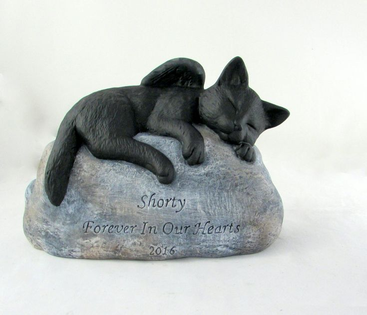 Ceramic Engraved/Customized Painted Cat Grave Marker with Shortened Tail - hand made, customized, indoor or outdoor by aarceramics on Etsy