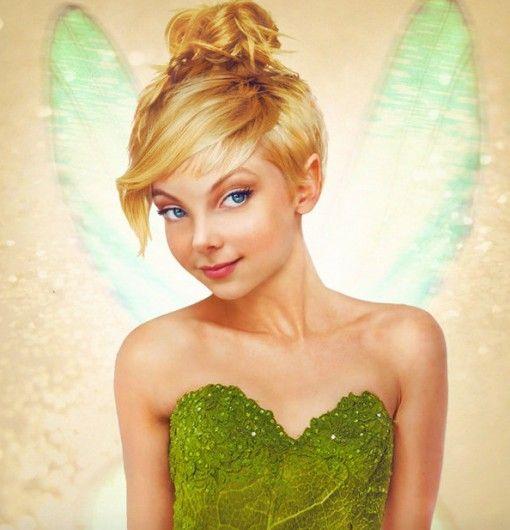 Tinkerbell - 11 x real life Disney Prinsessen getekend als échte vrouwen - Nieuws - Lifestyle
