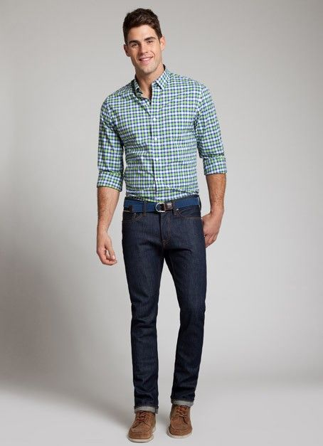This Shirt With Dark Wash Jeans And Brown Shoes Dont Do