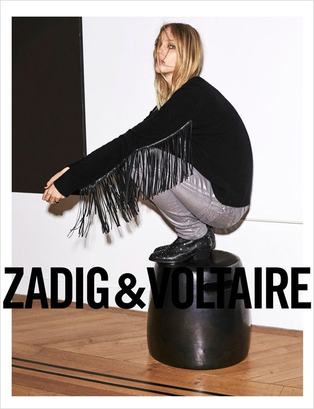 Sasha Pivovarova for Zadig and Voltaire Spring/Summer 2015. Photo: Frederic Meylan.