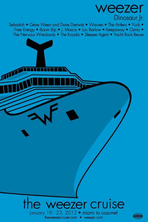 the weezer cruise! recuerdos :D