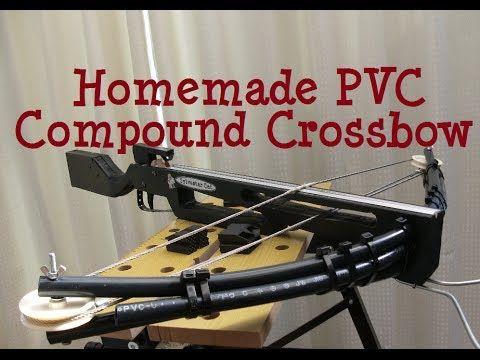 自作コンパウンドクロスボウの作り方 How to make homemade PVC compound crossbow - YouTube