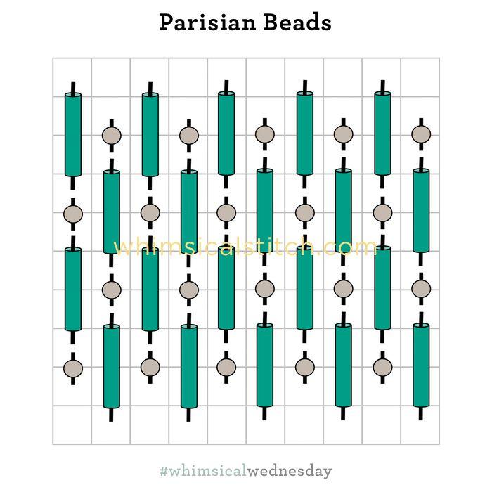 Parisian Beads from November 29, 2017 whimsicalstitch.com/whimsicalwednesdays blog post.