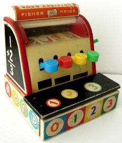 Ancienne caisse enregistreuse Fisher Price chez Bianca and Family