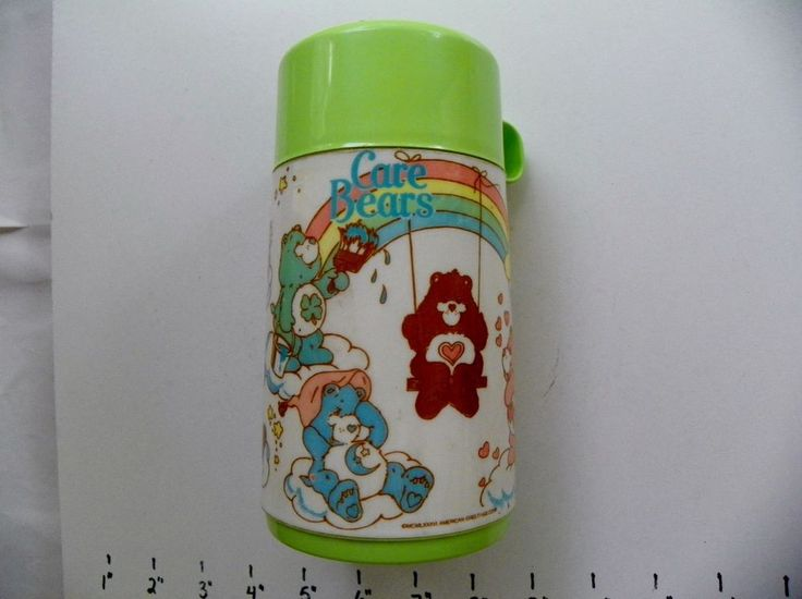 CARE BEARS IN THE CLOUDS ALADDIN THERMOS LIGHT GREEN CUP 1986 #Aladdin