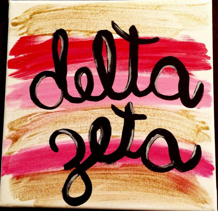 Delta Zeta canvas                                                       …