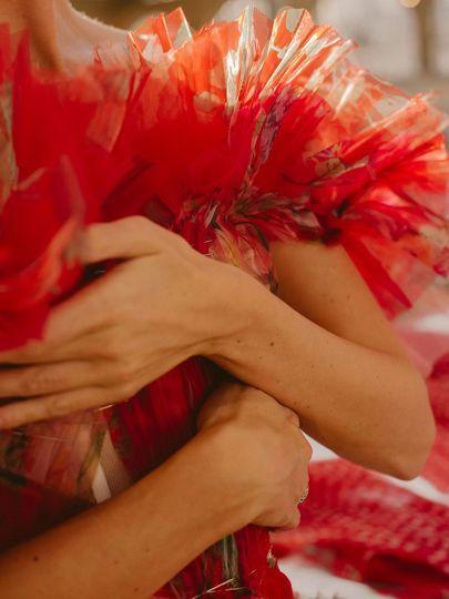 How a dress became a rose, according to Sarah Burton