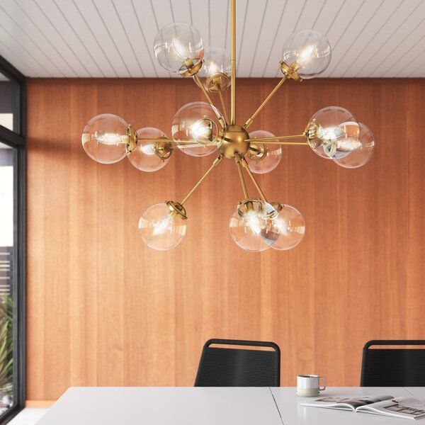 Serve Up Some Serious Mid Century Modern Vibes In Your Kitchen Dining Room Or Liv Mid Century Modern Chandelier Modern Lighting Chandeliers Modern Chandelier