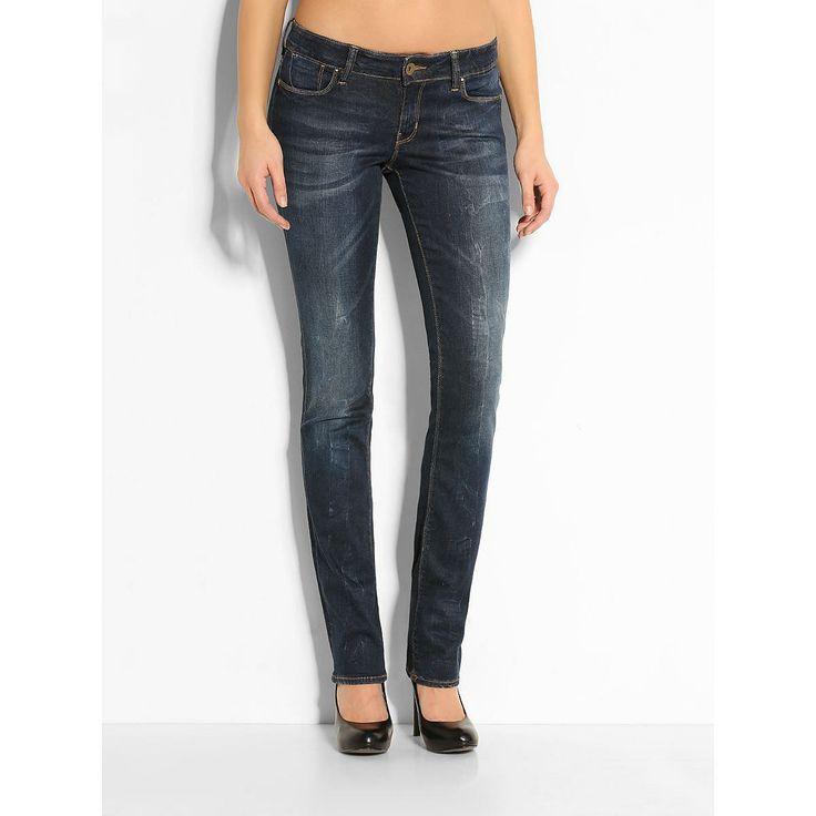Jeans Cigarette Mid Blue Xp-Erience    Jeans sind für die Frau von heute ein Statement: Die Power Skinny Jeans zeichnet sich durch Eleganz, Sinnlichkeit und Tragekomfort aus. Sie bewirkt durch den ultimativen Schlankmacher-Effekt eine radikale Veränderung der Silhouette.    Leichte Used-Optik.  Gesäßtasche mit Logodreieck aus Metall.  Label in Metallic-Optik.  Innere Beinlänge ca. 86 cm.  87% B...