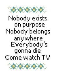 Resultado de imagen para rick and morty phrases cross stitch pattern