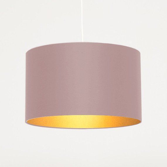 Lamp Shade 50 Cm Gold Meets Old Rose