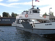 This is the ferry you take from Cape Vincent, NY to Wolfe Island, Ontario.